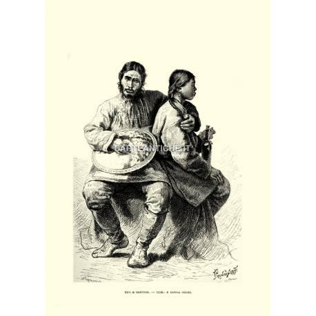 Costumi: uomo e donna Goldi.