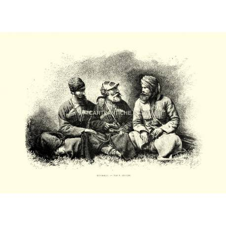 Mingrelii - Tipi e costumi (Asia).