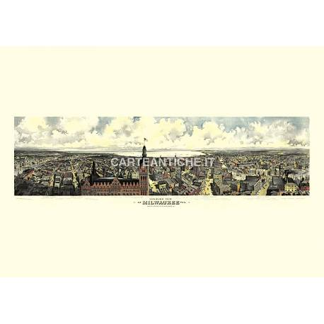 Panoramica di Milwaukee, Wisconsin (1898)