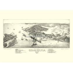 Cedar Key, Florida (1884)
