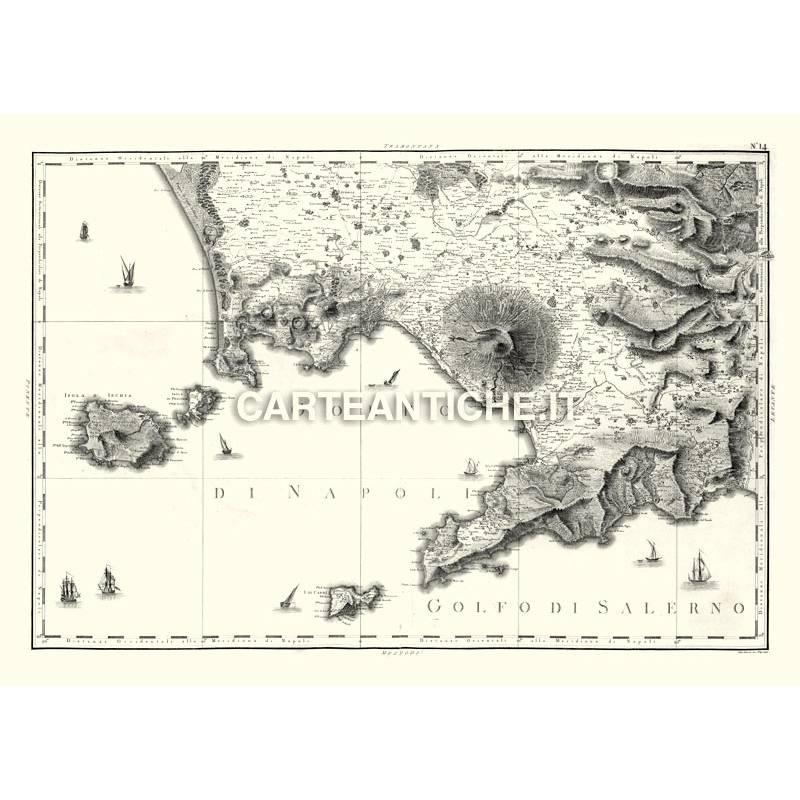 Regione Campania Cartina Geografica.Campania Carta Antica 03