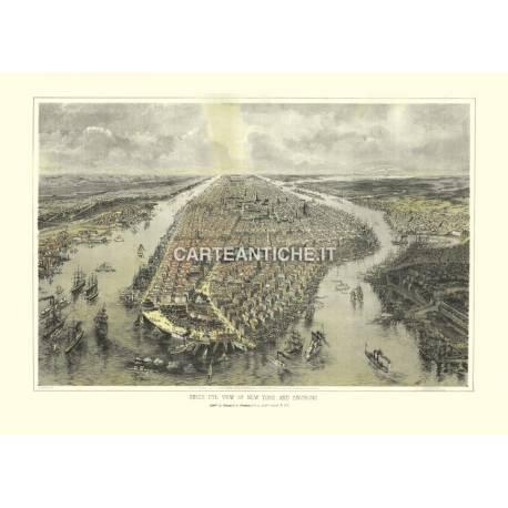 Veduta di New York (1866)