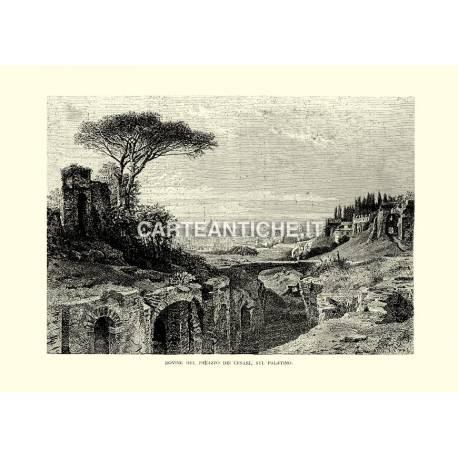 Rovine del palazzo dei Cesari, sul Palatino.