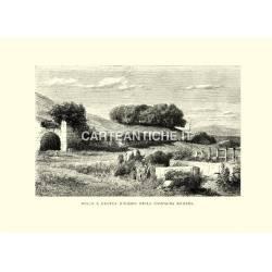 Bosco e grotta d'Egeria nella campagna romana.