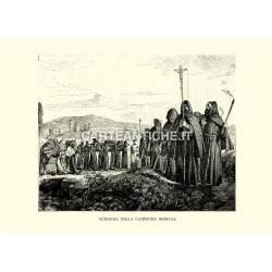 Funerali nella campagna romana