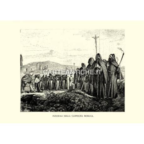 Funerali nella campagna romana.