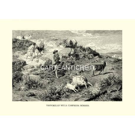 Pastorello nella campagna romana.