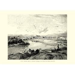 Acqua acetosa nella campagna romana con vista sul monte Soratte.