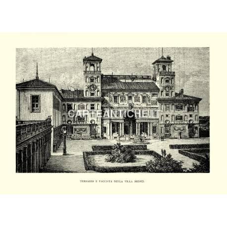 Terrazzo e facciata della Villa Medici.