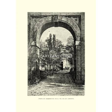 Porta ed acquedotti della via di San Lorenzo.