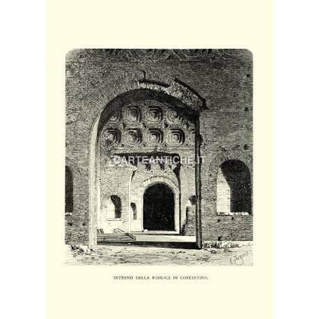 Interno della Basilica di Costantino.