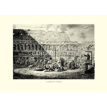 La predica nel Colosseo.
