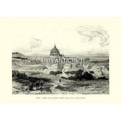 Roma, Chiesa di San Pietro, veduta dalla Villa Doria Pamfili.