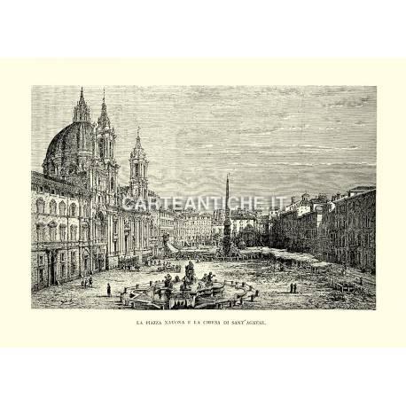 La Piazza Navona e la Chiesa di Sant'Agnese.