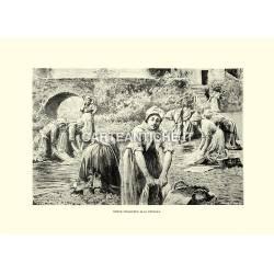 Donne spagnuole alla fontana