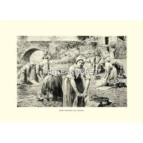 Donne spagnuole alla fontana.