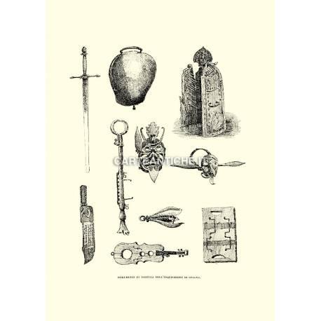 Strumenti di tortura dell'inquisizione spagnola.