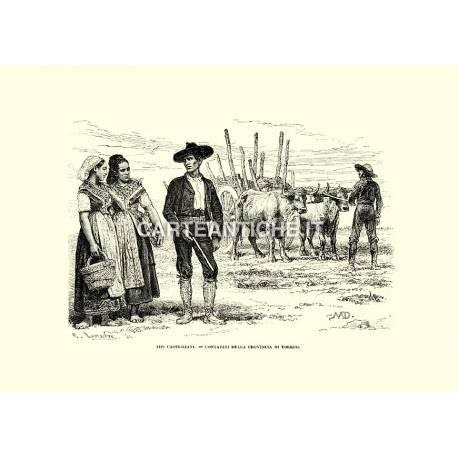 Contadini castigliani nella provincia di Toledo.