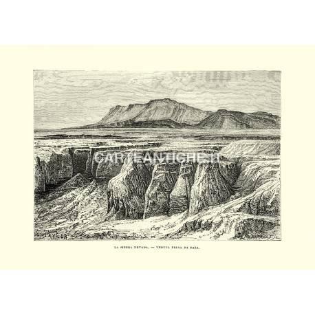 La Sierra Nevada, veduta da Baza.