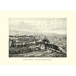 Granata e l'Alhambra. Veduta presa dalla Silla del Mor.