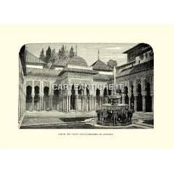 Corte dei leoni nell'Alhambra di Granata.