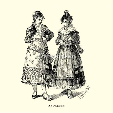 Costumi spagnoli: Andaluse.