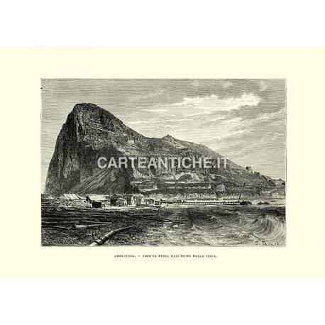 Gibilterra, veduta presa dall'istmo della linea.