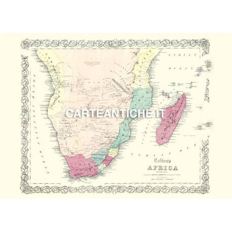 Carta antica: Africa Sud 02 - Colton 1855