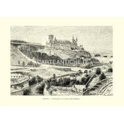 Segovia, l'Alcazar e la valle dell'Eresma.