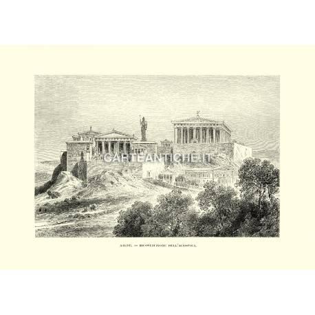 Atene, ricostruzione dell'Acropoli.