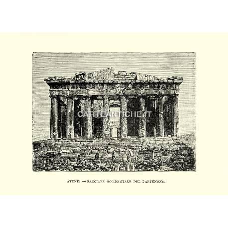 Atene, facciata occidentale del Partenone.