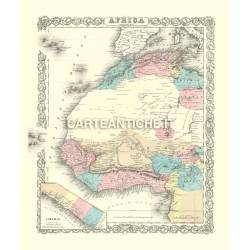 Carta antica: Africa ovest 03 - Colton 1855