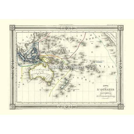 Carta geografica dell'Oceania (1852)