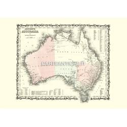 Carta geografica dell'Australia (1861)