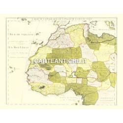Carta antica: Africa 07 - carte de la Barbarie 1707