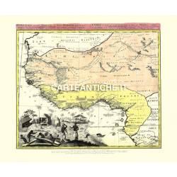 Carta antica: Africa 08 - E. Homan 1743