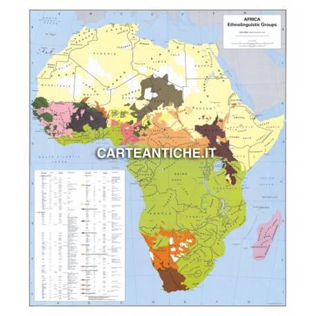 Carta antica: Africa 10 - Gruppi etnolinguistici 1959