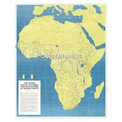 Carta antica: Africa 11 - Mappa delle tribù africane 1972