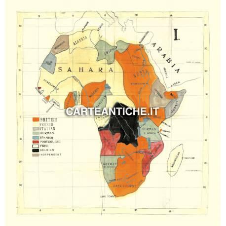 Carta antica: Africa 12 - Mappa dei Missionari 1908