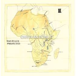 Carta antica: Africa 13 - Ferrovie progettate nel 1908