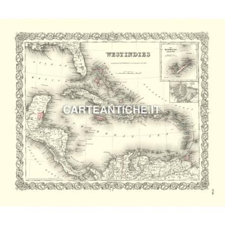 Carta antica: Caraibi 01 - Colton 1855