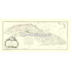 Carta antica: Caraibi 02 - Cuba 1783