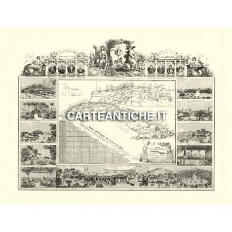Carta antica: Caraibi 03 - Cuba 1848