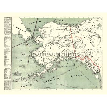 Carta antica: America nord 02 - Millroy 1897