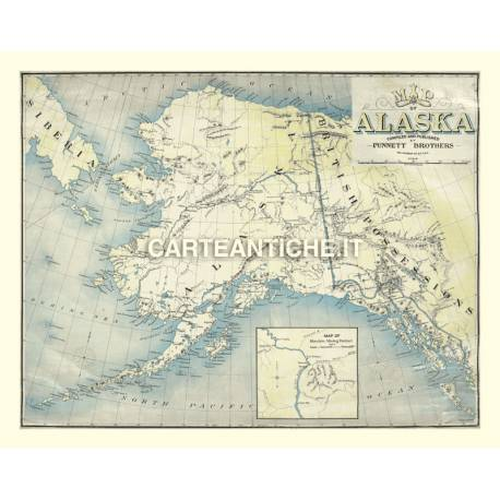 Carta antica: America nord 03 - Punnet 1897