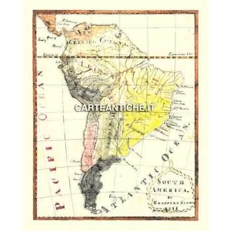 Carta antica: Sud America 01- S. Bradford 1816