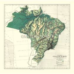 Carta antica: Sud America 02 - Brasile 1886