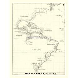 Carta antica: America 01 - D. Riberio 1529