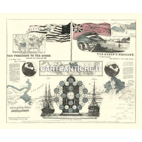 Carta antica: America 01 - Telegrafo 1858
