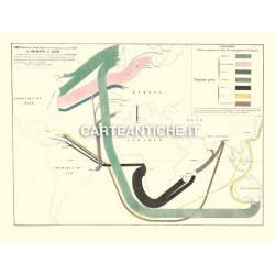 Carta antica: Mappa Migrazioni 02 - Minard 1862